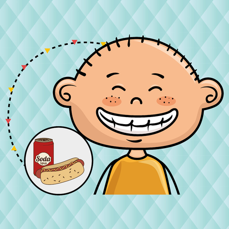 peppar: boy and fast food