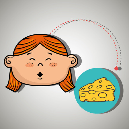 girl and cheese