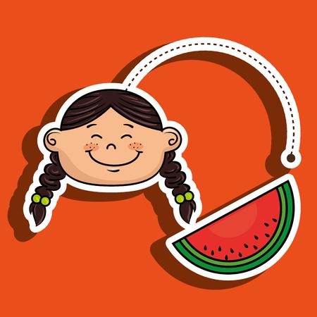 watermelon woman: girl with watermelon