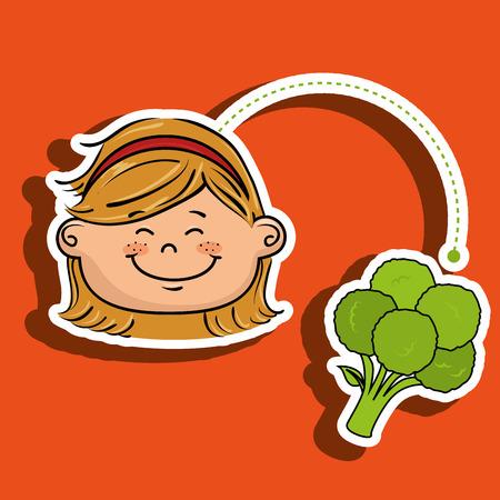 headband: girl and vegetable