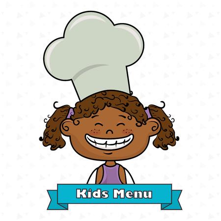 girl kids menu food vector illustration graphic