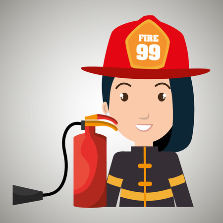 suppression: firefighter extinguisher protective vector illustration graphic eps 10