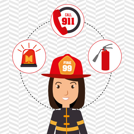 dangerous woman: firefighter