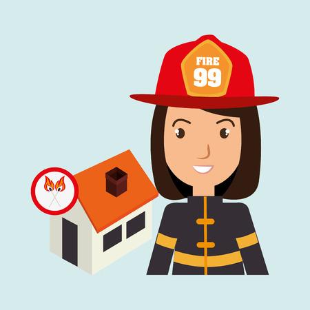 misfortune: woman firefighter