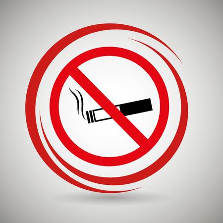 prohibido: cigarrillos prohibida icono de peligro ejemplo gráfico del vector