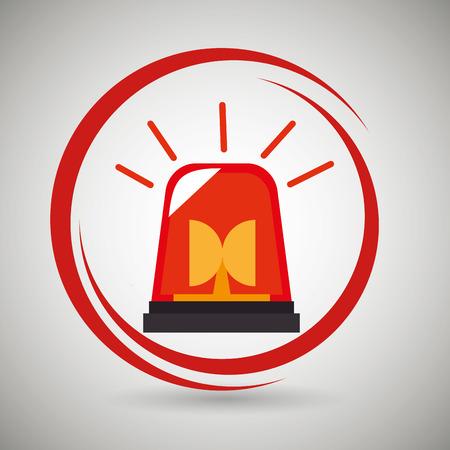 ring road: siren fire alarm emergency vector illustration graphic