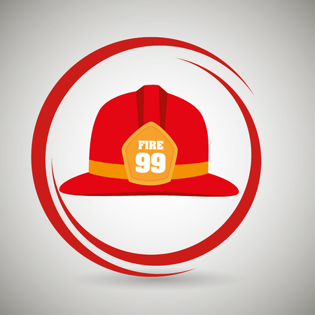 helmet fire hat icon vector illustration Illustration