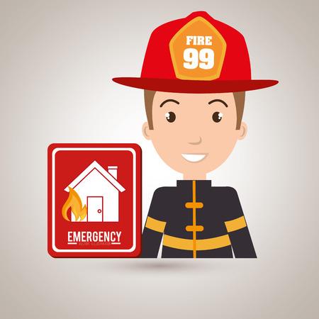 fire plug: man fire hydrant icon vector illustration graphic