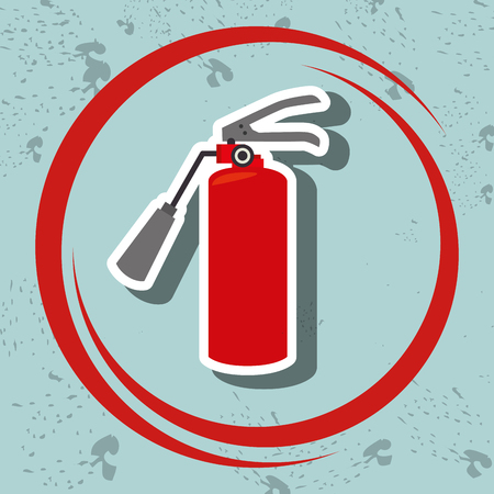 put pressure: extiguisher fire spray vector illustration graphic eps 10