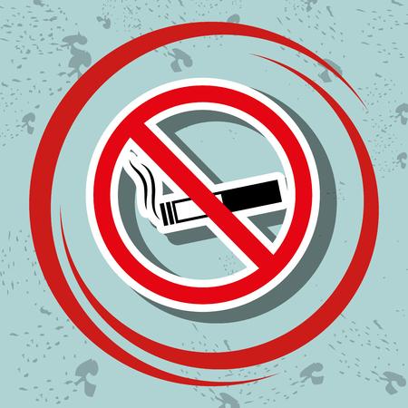 prohibido: cigarette prohibited danger icon vector illustration graphic