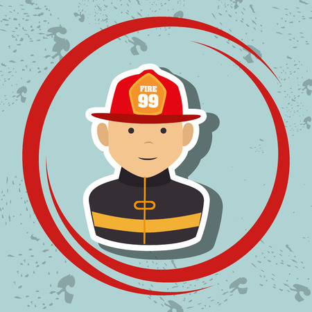 firefighter uniform: firefighter uniform protection rescue vector illustration graphic Illustration