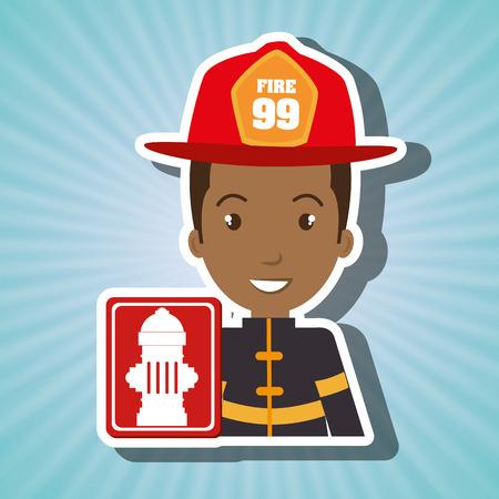 hydrant plug: man fire hydrant icon vector illustration graphic