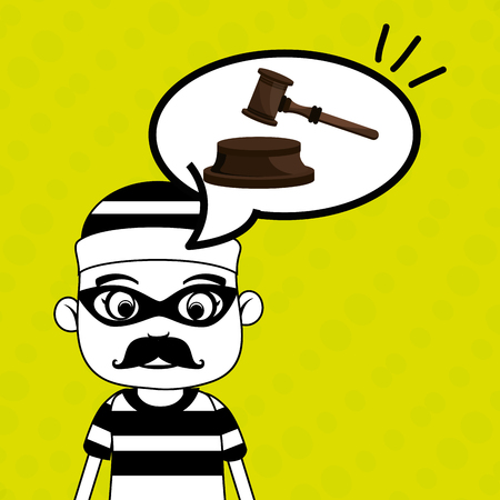 man criminal law icon vector illustration