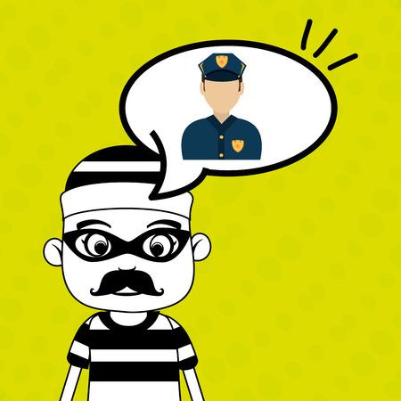 prison guard: man criminal law icon