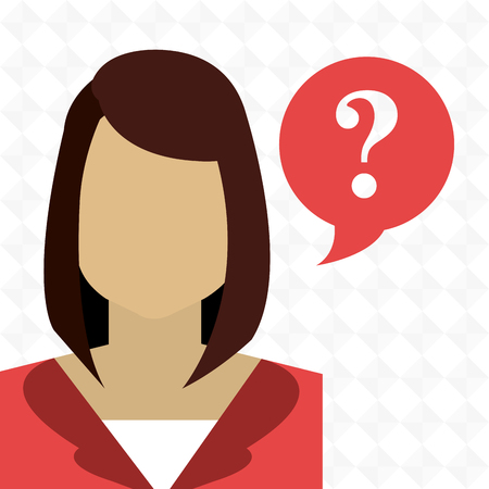 woman smartphone: smartphone woman question icon