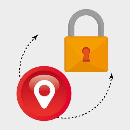 padlock safe pin icon