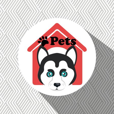 dog pets house icon vector illustration icon eps 10