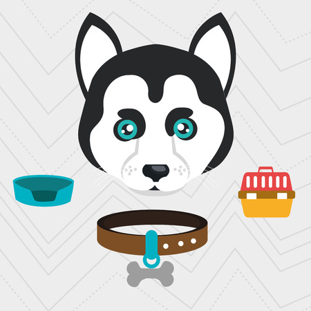 friend nobody: dog plate collar icon vector illustration eps 10