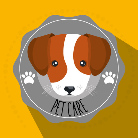 pet care: dog pet care icon vector illustration icon eps 10