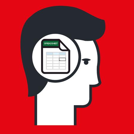 folio: silhouette calculation sheet icon vector illustration icon Illustration
