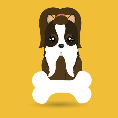 dog pet bone icon vector illustration icon Illustration