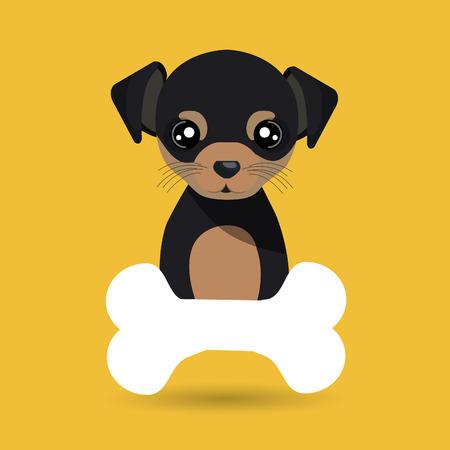 dog pet bone icon vector illustration icon