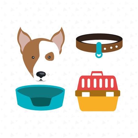 dog plate collar icon vector illustration eps 10