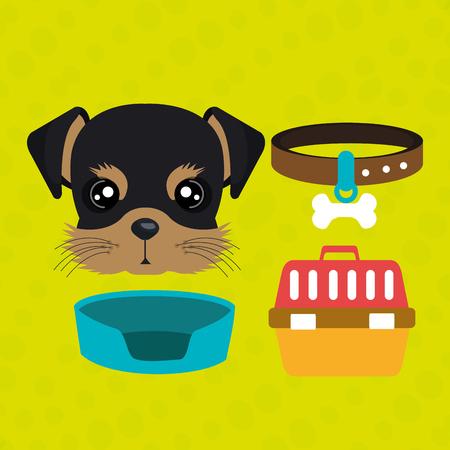 friend  nobody: dog plate collar icon vector illustration eps 10