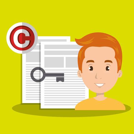 man paper confidential vector illustration design eps 10