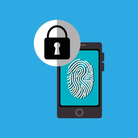 woman smartphone: woman smartphone password vector illustration design eps 10