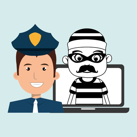 burglar: police criminal burglar design vector illustration eps 10