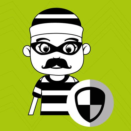 hacker security warning vector illustration eps 10 Illustration