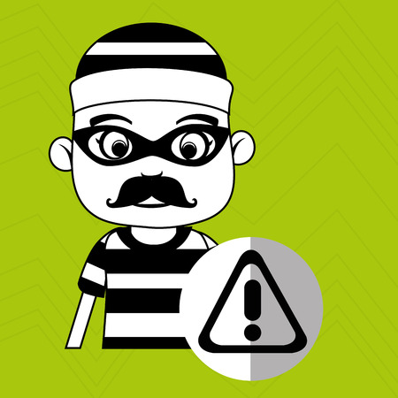 hacker security warning vector illustration eps 10 Illustration