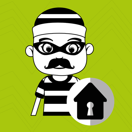 hacker security house vector illustration eps 10