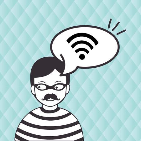 hacker information app icon vector illustration eps 10