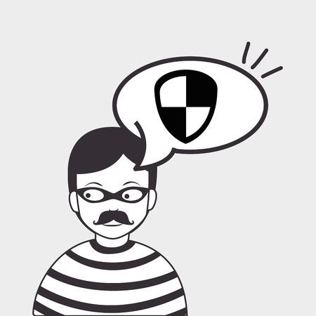 programming code: hacker information app icon vector illustration eps 10