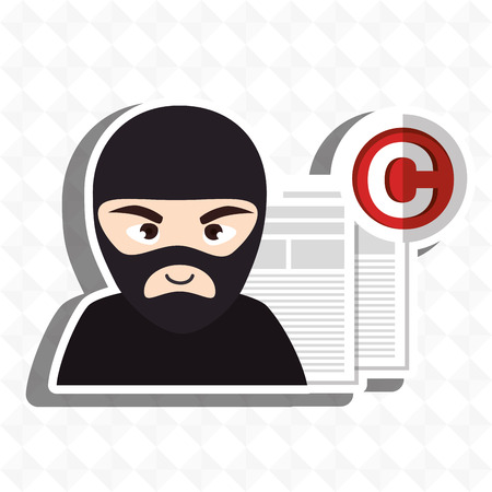 doc: confidencial segurity information doc vector illustration eps 10