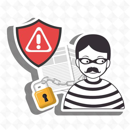 confidencial segurity information doc vector illustration eps 10