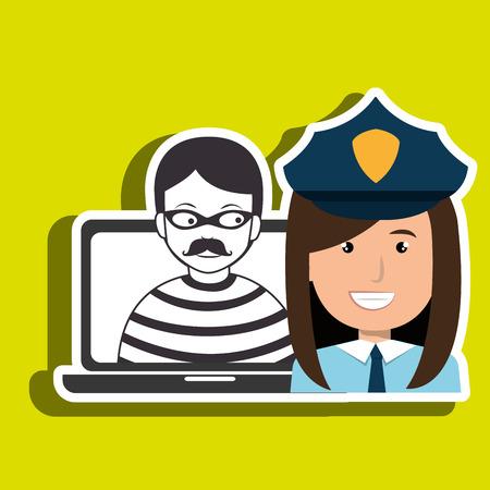 police criminal burglar design vector illustration eps 10
