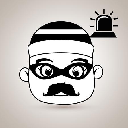 tecla enter: hacker de sirena de alarma de seguridad ilustración vectorial eps 10 Vectores