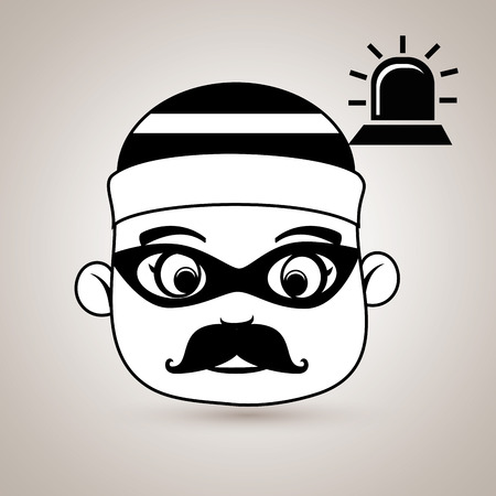 piracy: hacker security alarm siren vector illustration eps 10