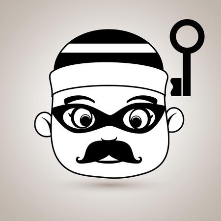 key pad: hacker security key vector illustration eps 10 Illustration