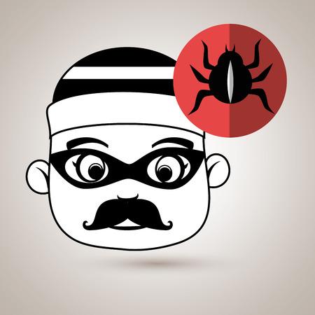 unnamed: hacker security virus vector illustration eps 10