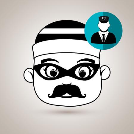 symbol vigilance: hacker security vigilant vector illustration eps 10 Illustration