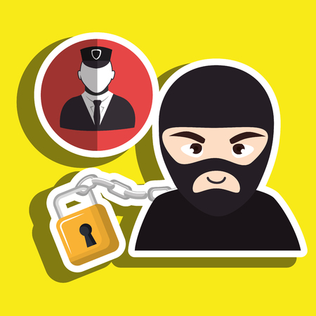 pc hacker safe design vector illustration eps 10 Illustration
