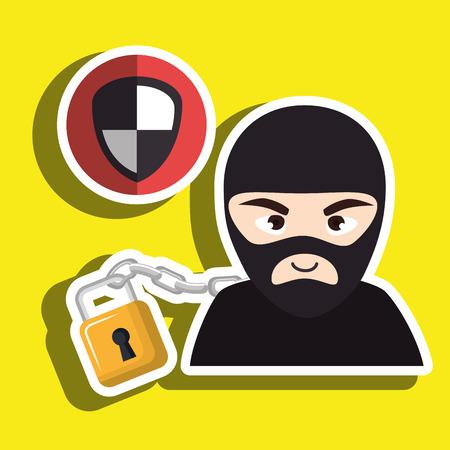 pc hacker safe design vector illustration eps 10 Illustration