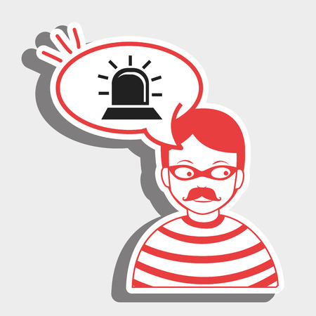 anonymity: hacker information app icon vector illustration eps 10