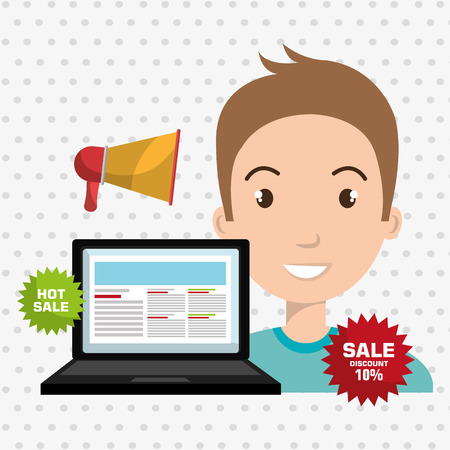 man sale shop online vector
