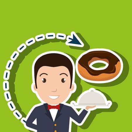 hotelpersoneel avatar pictogram vectorillustratieontwerp Stock Illustratie