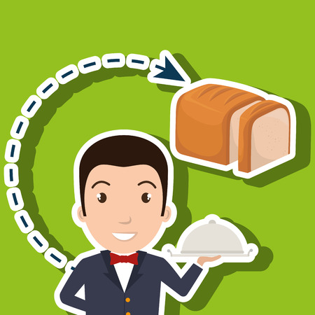 hotel manager: hotel employees avatar icon vector illustration design